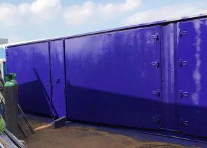 40ft Containers with Side Doors in blue door open 2