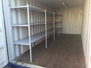 Containers with Racking