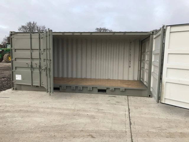 Containers with Side Doors in Grey more open