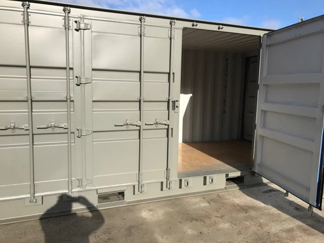 Containers with Side Doors in Grey