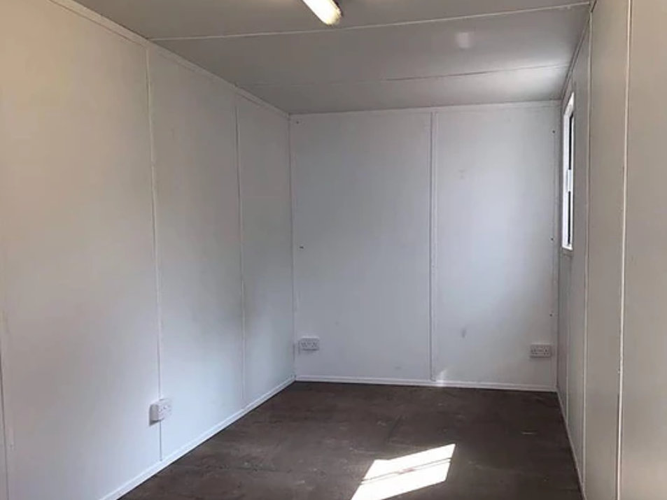 Inside 20ft Office Container Conversion