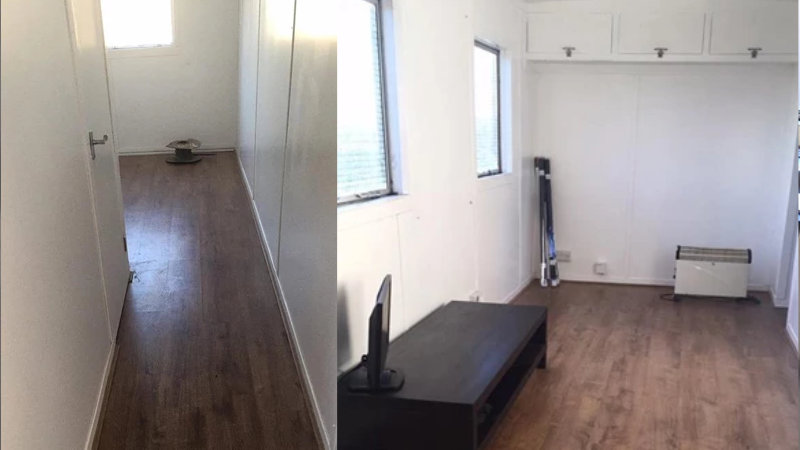 Living Accommodation Container Convertion Hall Way and Living Room