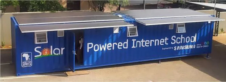 Solar Powered Internet Container ConverSion for Schools