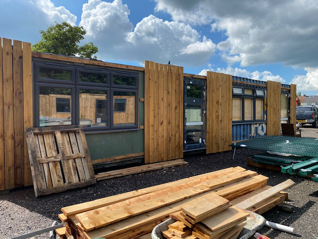 Containers Converted Into Hairdressers & Beauty Salon