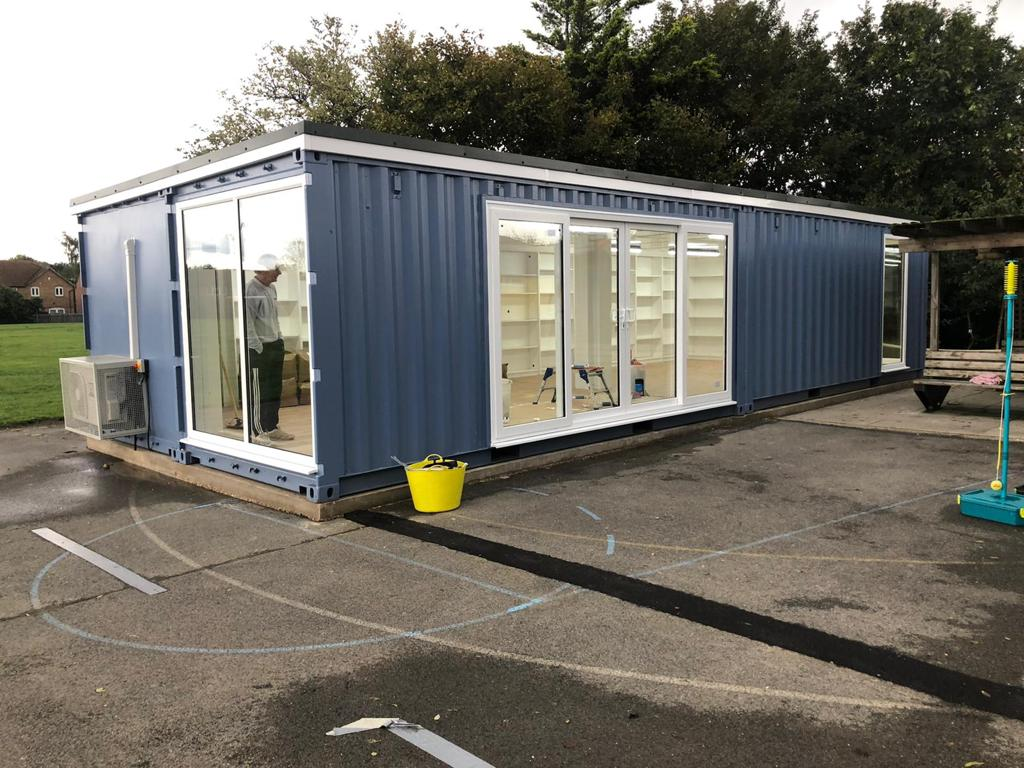 Shipping Container with Windows and Doors