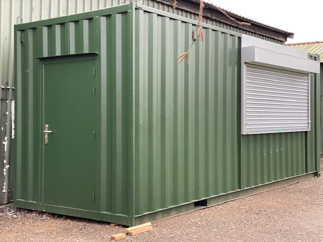 Green Shipping Container for Catering